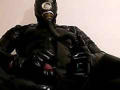 Rubber Latex Mask Cumshot