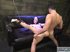 slave girl tied to chair getting her pussy