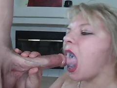swallowing cum