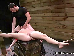 girl tied to sybian