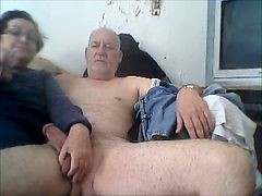 mom handjob on son