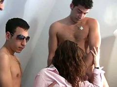 hot young samantha in a amateur gangbang 1