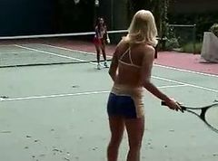Girls in Love - Katie and Sabrine in Lesbian Tennis Lesson