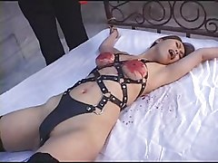 dirty black slut tied up anal gangbang