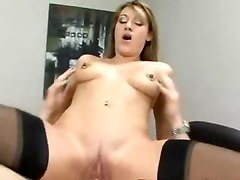 2 office ladies massaged getting their hairy