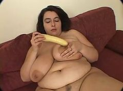 busty bbw solo pussy and tit fuck