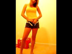 young blonde teen strips