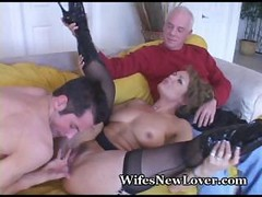 wife fucked as hubby watches