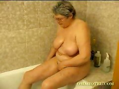 blond milf in bathroom