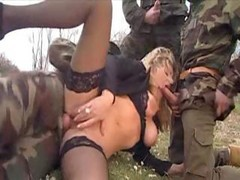 quuen gangbang by soldiers hemtai